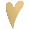 Metal Blank 24ga Brass Heart 25x16mm No Hole 9pcs